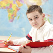 Стоковое фото: Image of caucasiboy in school