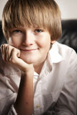 Portrait of smiling adolescent boy — Stock Photo