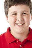Smiling pre-adolescent boy — Stock Photo