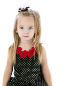 Waist up portrait of caucasian little girl — Stock Photo