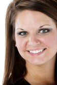 Closeup image of smiling young woman — Stock Photo
