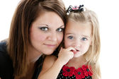 Caucasian mother and smiling daughter — Stock Photo
