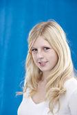 Smiling blonde teenage girl — Stock Photo