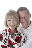 Portrait of smiling caucasian senior married couple — Stock Photo