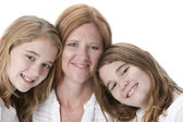 Image of mother with her two daughters — Stock Photo