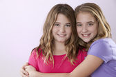Image of two caucasian sisters — Stock Photo