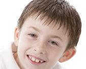 Full frame image of smiling little boy — Stock Photo