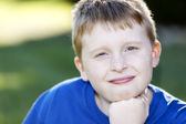 Image of smiling caucasian boy — Stock Photo