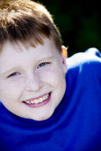 Close up image of smiling caucasian little boy — Stock Photo