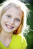 Smiling caucasian girl — Stock Photo