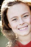 Full frame image of smiling caucasian boy — Stock Photo