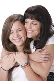 Image of caucasian mother and daughter — Stock Photo