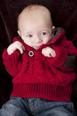 Waist up image of caucasian baby boy — Stock Photo