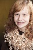 Smiling preteen girl — Stock Photo