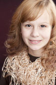 Image of smiling preteen girl — Stock Photo