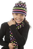 Image of smiling african american preteen girl — Stock Photo