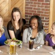 Women enjoying girl's night out together at restaurant bar — Stock Photo #21370055