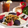 Food and Drink. Delicious mexican fajita salad — Stock Photo