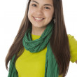 Real. Hispanic teenage girl wearing vibrant colorful clothes and scarf. — Stock Photo #21372653
