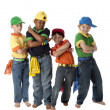 Diversity. Group of friends, boys, with cool attitudes — Stock Photo