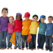 Foto Stock: Diversity. Group of diverse children of different ethnicities standing together