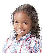 Image of mixed race smiling little girl — Stok fotoğraf