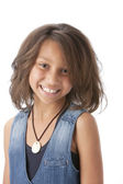 Real. Mixed race smiling little girl — Stock Photo