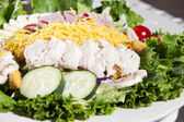 Food and Drink. Closeup crisp chef salad. — Stock Photo