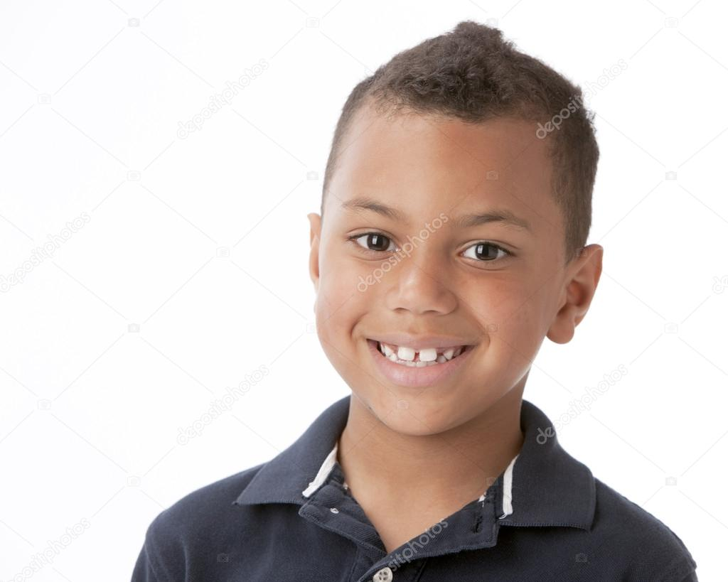 Real. Mixed race smiling sittle boy — Stock Photo