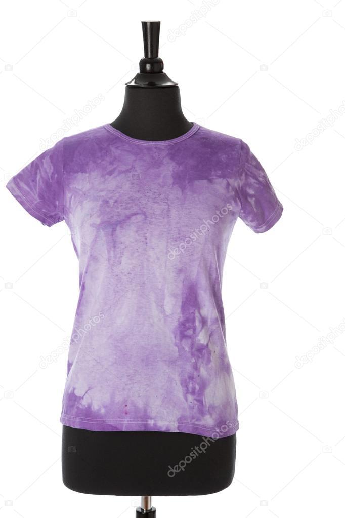 A bright purple tie dye t shirt for women or girls on a for Bright purple t shirt