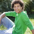 Mixed race teenage boy  — Stock Photo