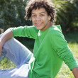 Stock Photo: Mixed race teenage boy