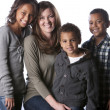 Mixed race family — Stock Photo