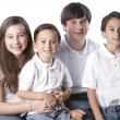 Caucasian  family with siblings — Photo