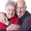 Caucasian senior adult married couple in love — Stock Photo