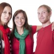 Stock Photo: Real : Small Group Friends Caucasian Young Adults Head Sho