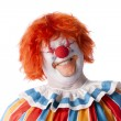 Royalty-Free Stock Photo: Clowns. Adult male clown laughing with his eyes closed