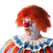 Clowns. Adult male clown with a look of surprise on his face — Stock Photo #21424013