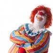 Clowns. Adult male clown with his arms crossed and a look of satisfaction — Stock Photo