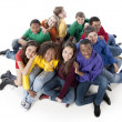 Diverse Teenagers. Group of diverse teenagers together as a symbol of friendship — Stock Photo