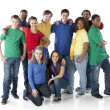 Diverse Teenagers. Group of diverse teenagers standing together as a symbol of friendship — Stock Photo
