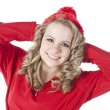 Happy relexed and confident teenage girl - Stock Photo