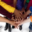 Стоковое фото: Diverse Teenagers. Teenagers putting their hands together