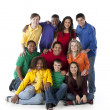Diverse Teenagers. Group of diverse teenagers together — Stock Photo