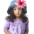Worried disappointed mixed race little girl — Stock Photo #21425577