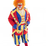 A professional male clown — Stock Photo