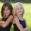 Multicultural little girls — Stock Photo #21426347