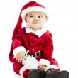 Cute hispanic baby boy frowns and gets ready to cry — Stock Photo