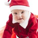 Caucasian baby girl crawls toward camera — Stock Photo #21426995