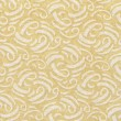 A high resolution neutral buttercream colored fabric with white swirls — Stock Photo